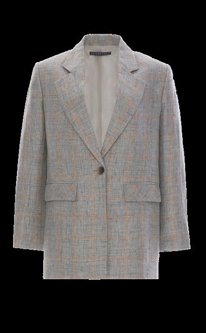 Linen Boyfrien Jacket by Zeynep Arcay, available on zeyneparcay.com for $1950 Kaia Gerber Outerwear SIMILAR PRODUCT