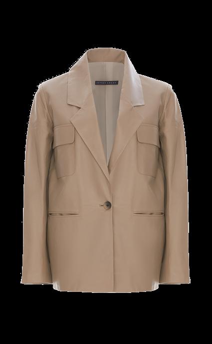 Oversized Leather Jacket by Zeynep Arcay, available on zeyneparcay.com for $2600 Kaia Gerber Outerwear SIMILAR PRODUCT