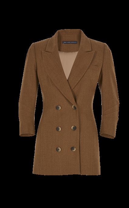 Wool Wrap Blazer by Zeynep Arcay, available on zeyneparcay.com for $2100 Kaia Gerber Outerwear SIMILAR PRODUCT