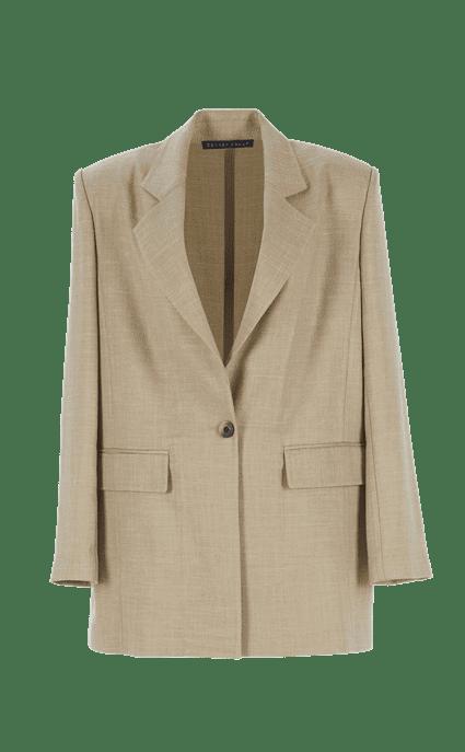 Boyfriend Wool Blazer by Zeynep Arcay, available on zeyneparcay.com for $1950 Kaia Gerber Outerwear SIMILAR PRODUCT